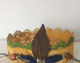 Princess Moana crown, Indian headpiece, Moana headpiece, Crown, Pineapple crown, Birthday crown