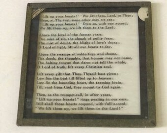 Vintage Glass Slide - Magic Lantern - 1900 – Hymns