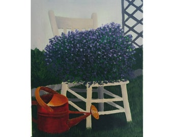 Chair in Garden Painting