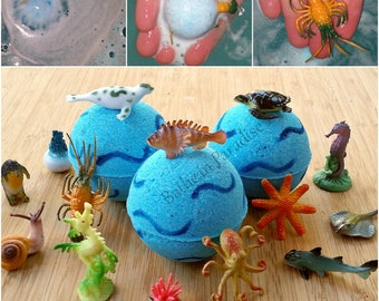 Under The Sea Bath Bomb | Sea Creature Toy Bath Bomb | Toy Inside Fizzy | Children's Bath Bomb