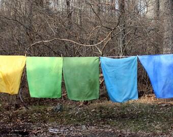 "Hand-Dyed Play Silks - Waldorf Play Silks - 21"" x 21"""