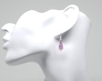 Drop pendant earrings featuring Swarovski crystal