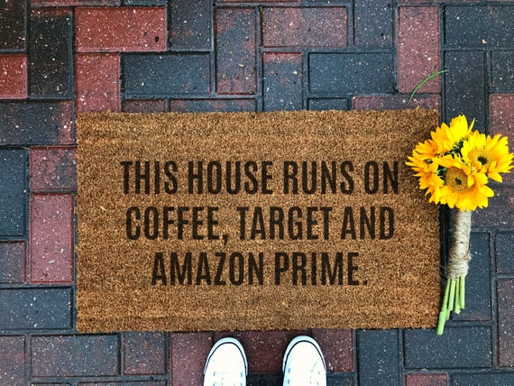 Coffee, Target and Amazon // Doormat // Coir // Funny // Housewarming // Gift