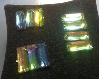 Lot 5 connector rectangular Prism multicolor