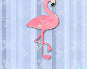 Flamingo SVG, PNG, DXF, Eps Cutting Files, Flamingo Cut File, Flamingo Clipart, Pink Flamingo Svg, Summer svg, Beach svg, Valentine Svg