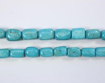 Stabilized Turquoise, Gemstone, Nuggets, Blue Beads, Cube Shaped Beads, DIY, BS275