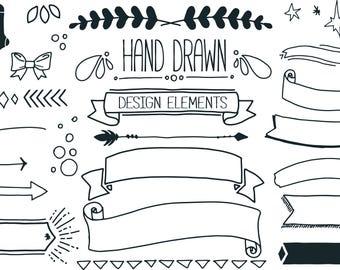 Hand Drawn Design Elements Set 3