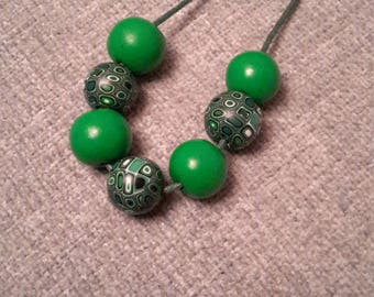 Lovely necklace from polymer clay