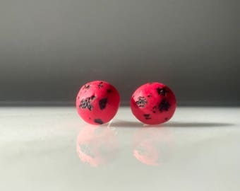 Pink Moon, April Moon, Full Moon Earrings
