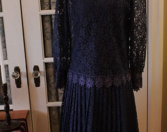 1980's does 1920's Two Piece Evening Dress