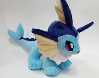 Pokemon Vaporeon  custom plush - ready to be shipped **reduced price**