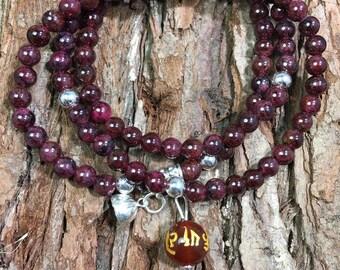 Grade A Natural Red Garnet Bracelet, Red Garnet Crystals, Women's Accessories, Elegant Bracelet, Precious Garnet Stone, Lucky Charm Bracelet