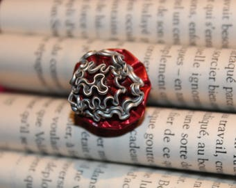 One aluminum froufrou ring size