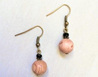 Natural wood earrings