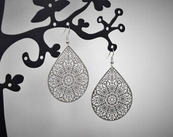 Earrings silver light prints