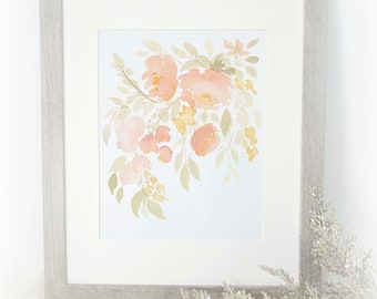 Autumn Florals (Watercolor Print)