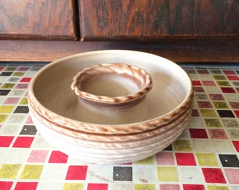 Beautiful Vintage Rope Effect Lovatte Homeware Posy ring - 1960s