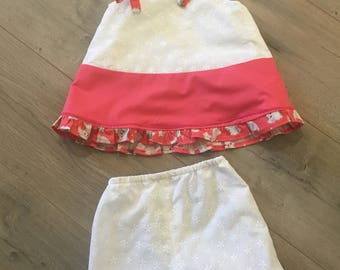 Toddler Handmade Top and Capri Pants w/ Puppy Dog Trim
