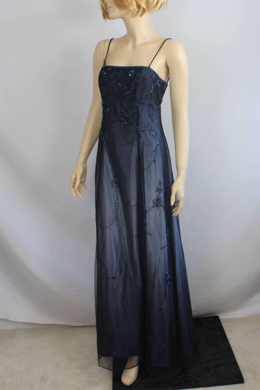 90s prom dress formal purple black dress vintage 1980s ball