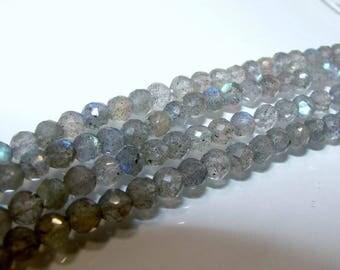 05 mm diameter faceted round Labradorite. Semi-precious stones. (3376677)