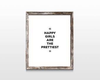 Happy Girls (instant download, downloadable art, wall art)
