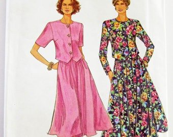 Ladies' Petite Skirt and Top Sizes 8-18 Multi-size Simplicity 8585 Unused Vintage Sewing Pattern