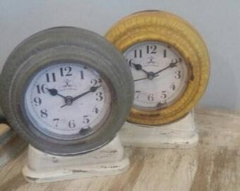 Rustic Metal Mantel Clock
