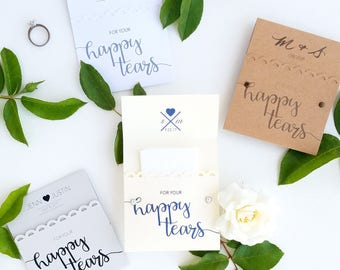 220 Happy Tears Tissue Packs for Wedding Ceremony, Wedding Tissues {RESERVED}