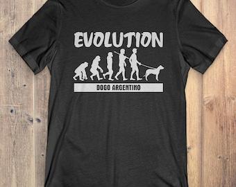 Dogo Argentino Custom Dog T-Shirt Gift: Dogo Argentino Evolution