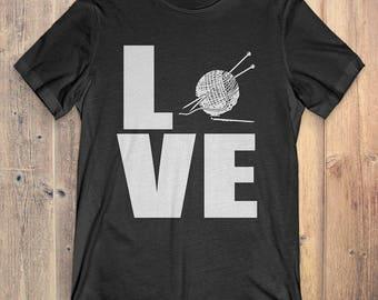 Crochet T-Shirt Gift: Love Crochet