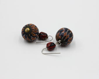 Antique Colored Dvaravati Dangle and Drop Earrings #2