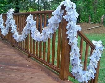 Wedding Natural Burlap Lace Ivory Garland 5ft.- Decoration Rastic chic