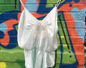 Baby Blue Silk Vintage Nighty