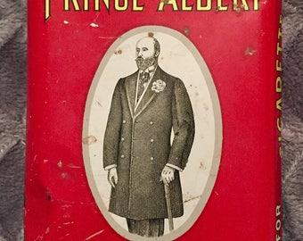 1950s Prince Albert Pipe & Tobacco Crimp Cut Vintage Tin