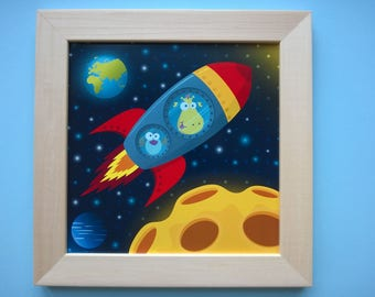 Children's room decor: fuse, yellow, red and blue