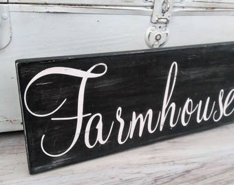 Farmhouse sign, Farmhouse decor, Farmhouse kitchen, distressed sign, FARMHOUSE distressed sign