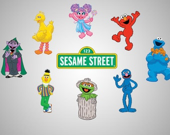 Sesame street clip art / Sesame street vector / Sesame street printable / svg  file / png 300 ppi