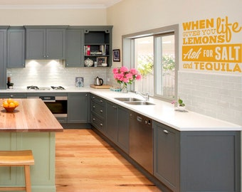When life gives you lemons ask for salt and tequila   Motivational Vinyl Decal collection for wall / window decor