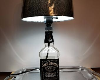 "Jack Daniels Lamp with Shade. 750ML Bottle.  18"" Tall.  Jack Daniel's, bar, ManCave, Man Cave, Whiskey, Whisky"