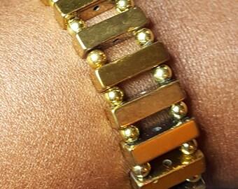Men's Gold Hematite Bracelet