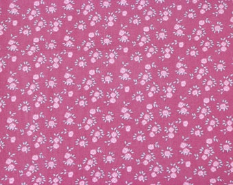 Pink floral vintage type print, wide cotton fabric, price per metre, dress fabric, quilting fabric, kids clothing fabric, pink fabric print