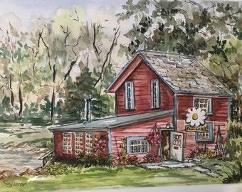 Flower Shop Watercolor