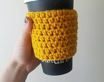Crochet Coffee Cozy - Coffee Cozy - Coffee Sleeve - Crochet Coffee Sleeve