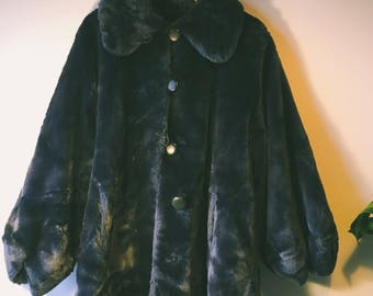 Super Funky Blue Coat faux fur.