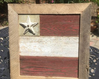 Authentic Barn Board Abstract American Flag