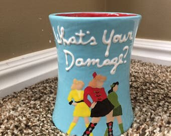 Hand Painted Heathers Cup