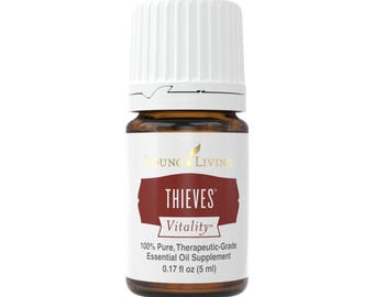 Young Living Thieves Vitality Essential Oil sample; 1mL, 1.5mL, 2mL, 3mL sample