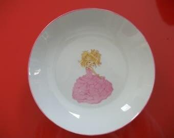 "Porcelain plate from Limoges for little girl ""Princess"""