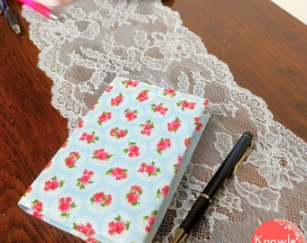 A6 Notebook Cover and Notepad Shabby Chic Floral