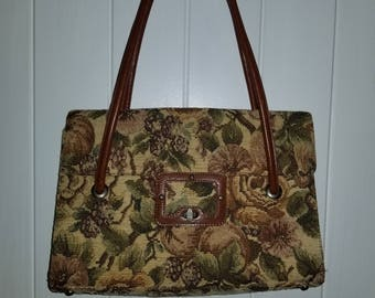 Vintage Brocade Tapestry Bag